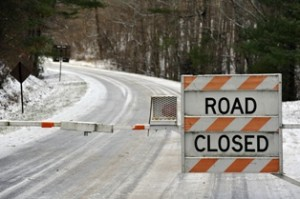 Most of the Blue Ridge Parkway is closed today.