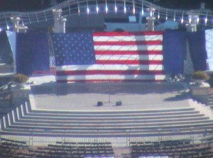 Preparations for the Bill Clinton Rally - Asheville NC
