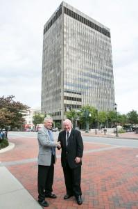 McKibbon-Tower partners John McKibbon (l) and Glenn W. Wilcox, Sr